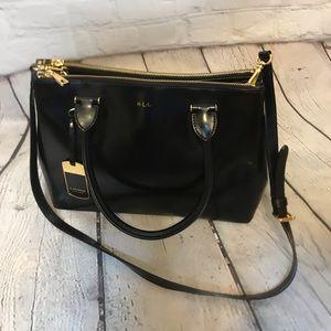 """Ralph Lauren """"Taylor"""" Double Zip Shopper Handbag"""